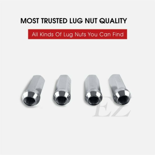 """32 Open End Lug Nuts Bulge Acorn 9//16/"""" Ford Dodge Chrome 1.9/"""" For Extended Studs"""