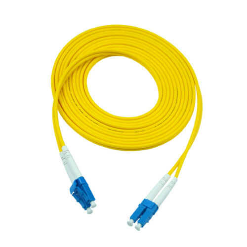 20M Duplex Single Mode 9//125 LC to LC Fiber Patch Cord Jumper Cable SM