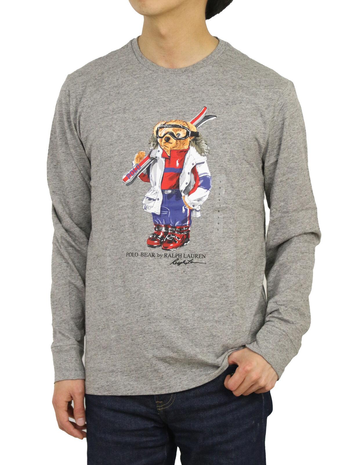 Ralph Lauren Mens Long Sleeve Tshirt Polo Bear Limited Edition Size XXL -