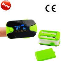 [usps] Finger Pulse Oximeter Oximetery Blood Oxygen Spo2 Tester Alarm Lanyard