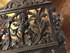 Lutrin Putti Ange Porte Libre XIX 19 ème Bois sculpté