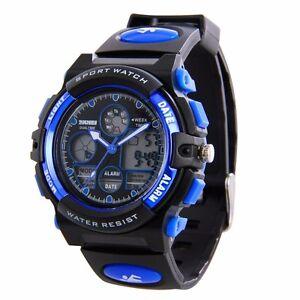 Fashion Kids Boys Digital Watches LED Waterproof Sports ...