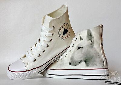 Custom Made, Bull Terrier, Canvas Shoes