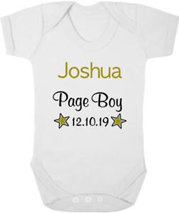 Boda Regalo Página personalizada Niño Nuevo Bebé Body//bebé crezca//Chaleco Recuerdo