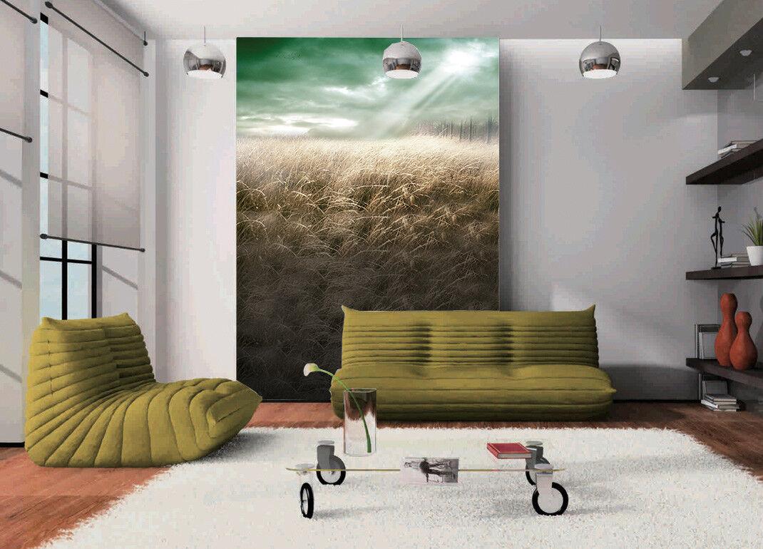 3D Sky Gelb Straw 7 Wallpaper Mural Paper Wall Print Wallpaper Murals UK Lemon