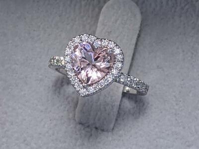2.50Ct Cushion Cut Brilliant Diamond Halo Engagement Ring 14K White Gold Finish