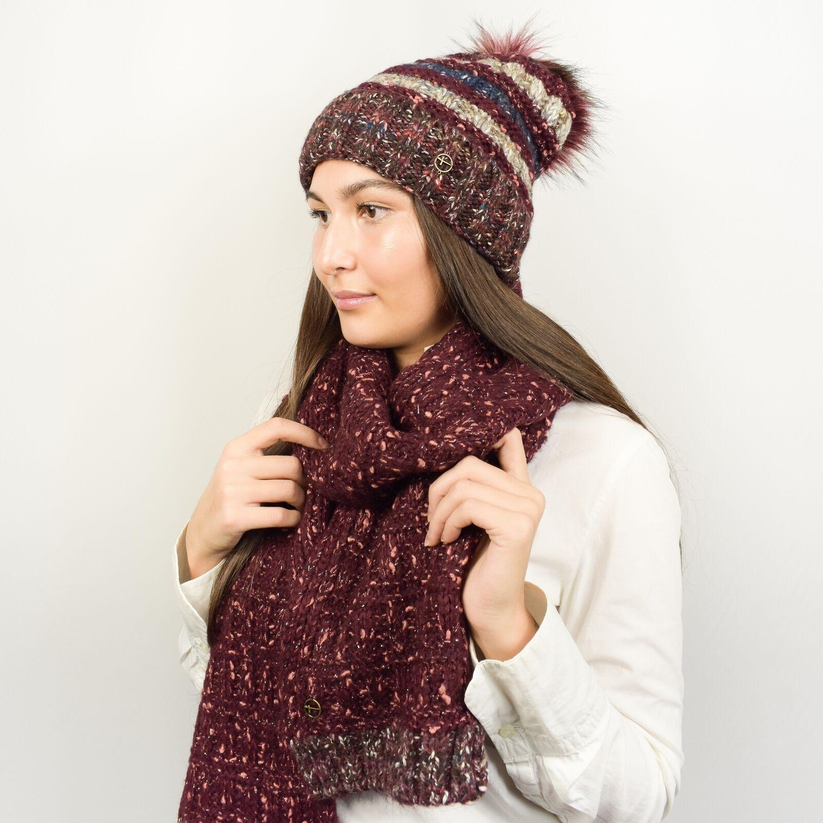 Tamaris Mujer Set de Invierno - Mohair-Lurex Juego Borla & Bufanda - Ideas