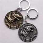 1* Game of Thrones House Stark Car Key Chain Keychain Keyring Gold Gold Keyfob