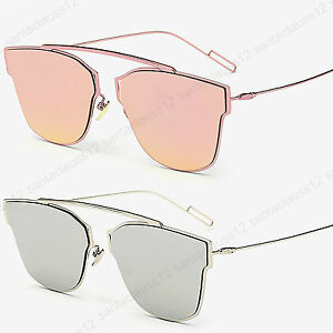 Bridge-Less-Slim-Flat-Lens-Cat-Eye-Ear-Sunglasses-Women-039-s-UV400