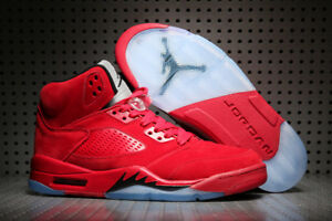 New-Men-039-s-Air-J-5-Basketball-Shoes-Breathable-High-Top-Sport-Sneakers-Size-7-13
