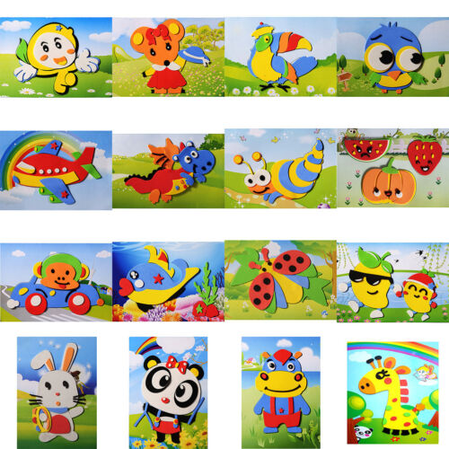 1 Pcs DIY Cartoon Animal 3D EVA Foam Sticker Puzzle Toys for Kids SLCA