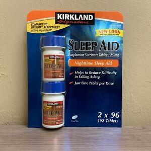 Kirkland-Signature-Sleep-Aid-Doxylamine-Succinate-25-Mg-192-Tablets