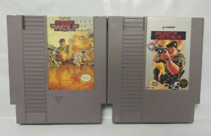 Rush-039-N-Attack-Operation-Wolf-Nintendo-NES-Authentic-Game-Lot-Tested-Works