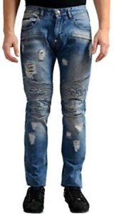 EUC Auth PHILIPP PLEIN men's Illegal Fight Club Straight Cut denim jeans US36