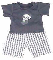 Teddy Bear Clothes fit Build a Bear Teddies Clothing Panda PJ's Pyjama