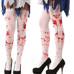 New-Fancy-Dress-Tights-Halloween-Costume-Doctor-Nurse-Blood-Stained-Stockings