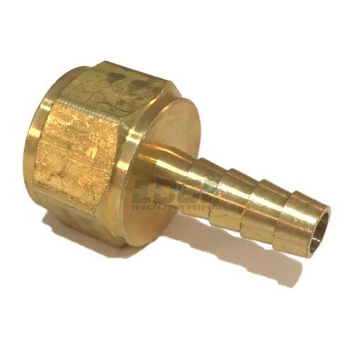 5//16 HOSE BARB X 1//2 FEMALE NPT Brass Pipe Fitting NPT Thread Gas Fuel Water Air