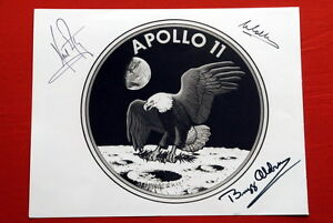 APOLLO-11-SIGNED-ORIGINAL-NEIL-ARMSTRONG-BUZZ-ALDRIN-COLLINS-RARE-NASA-EAGLE