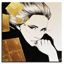 Modern. Art - 100x100cm-Ölbild handgemalt Leinwand Signiert G94723