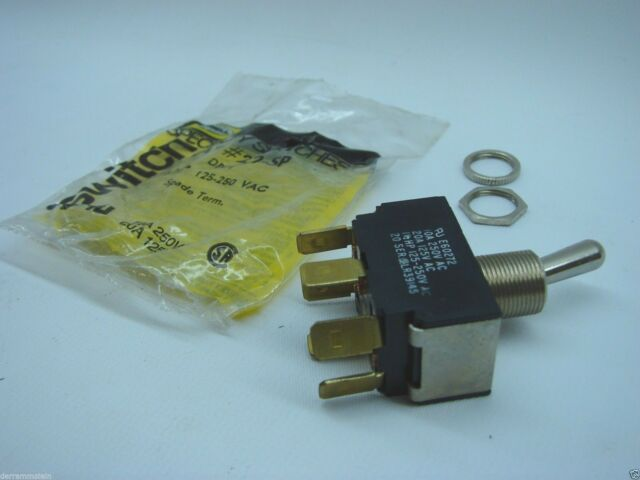Hubbell Wiring Devices HBL22SP Switch Toggle DPDT 20a 125vac 1.5 HP ...