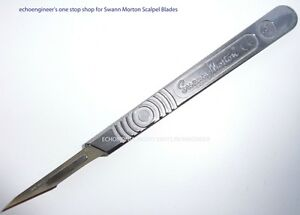 SWANN-MORTON-No-3-SCALPEL-HANDLE-PLUS-100-10A-BLADES-MADE-IN-THE-UK