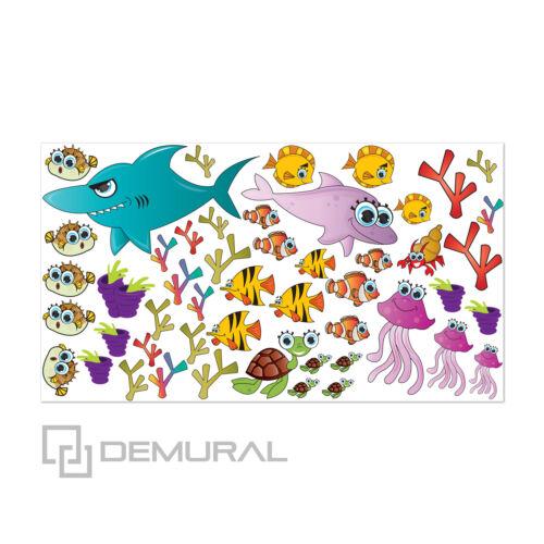Baby Sticker Aufkleber Unterwasser-Welt SDB4 Wandtattoo Fürs Kinderzimmer