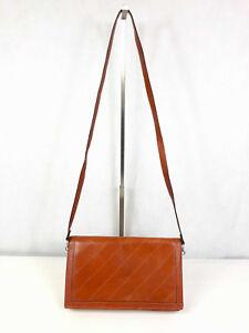Ehrgeizig Cult Vintage '70 Umhängetasche Clutchbag Leder Leather Purse Umhängetasche