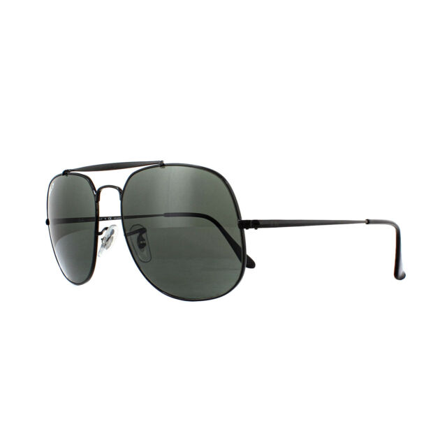 7d8cc40f64e Ray-Ban Sunglasses General 3561 002 58 Black Green Polarized