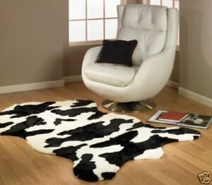Details About Cow Rug Faux Fur Cowhide 5x7 New