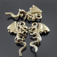 20pcs//pack Retro Bronze Alloy Hollowed Flying Bat Charm Pendants Jewelry Crafts