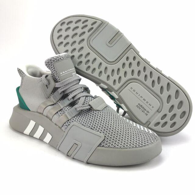 separation shoes e9977 82974 Adidas Originals Men's EQT ADV Grey White Green Basketball Shoes Size 11.5 D