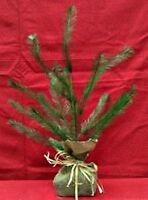 Charlie Brown Christmas Primitive Vintage Style Feather Tree Burlap Base 16