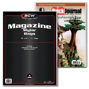 (100) BCW MAGAZINE MYLAR - 4 MIL - 9 X 11 1/2