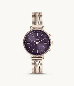 Fossil Hybrid Smartwatch Cameron Pastel Pink Stainless Steel