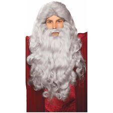 Grey Moses Wig & Beard Set Costume Accessory Adult Halloween