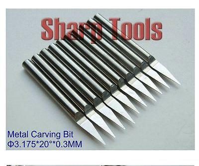 10pcs//lot 3.175x0.8mm 20Degree V PCB metal carving CNC router bits