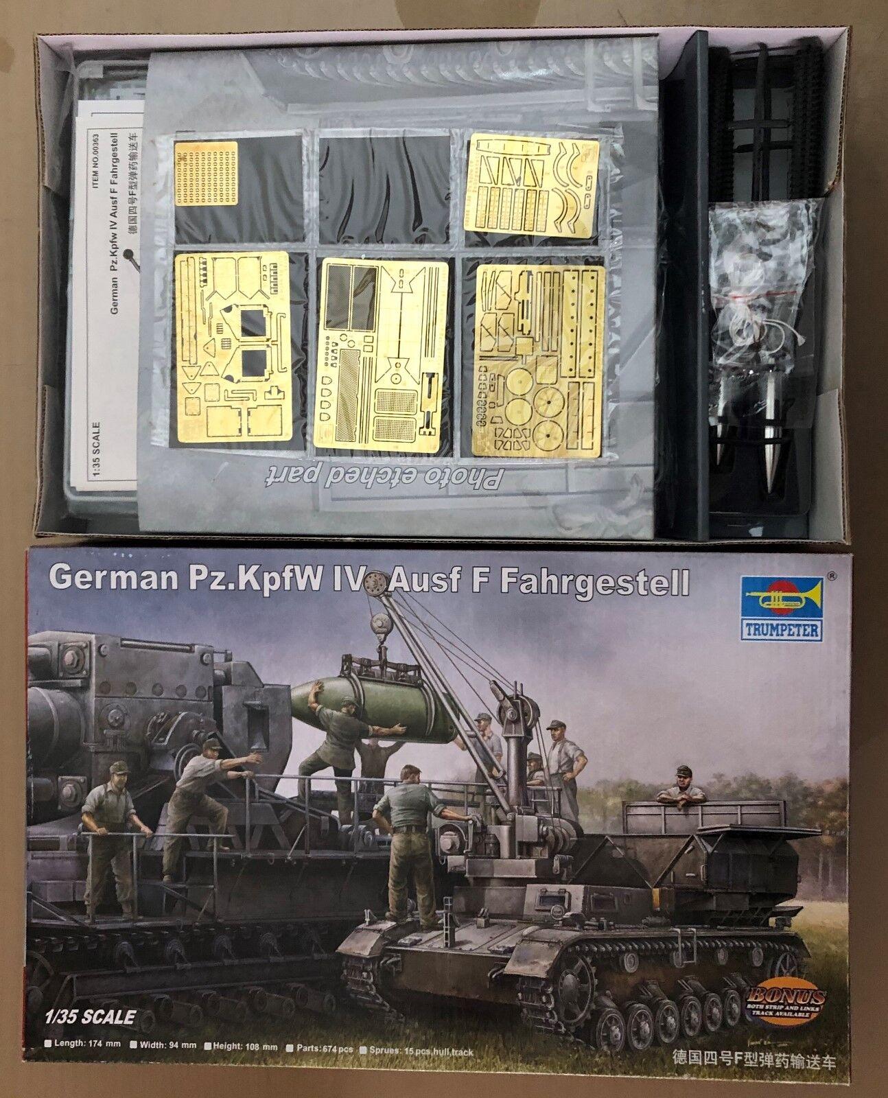 TRUMPETER 00363 - GERMAN Pz.KpfW IV Ausf F FAHRGESTELL - 1 35 PLASTIC KIT