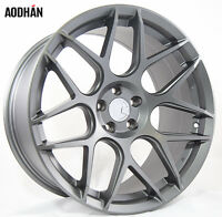 18x9 Aodhan Ls02 Rims 5x120 +30 Gun Metal Wheels Fits Lexus Ls460 2007-16