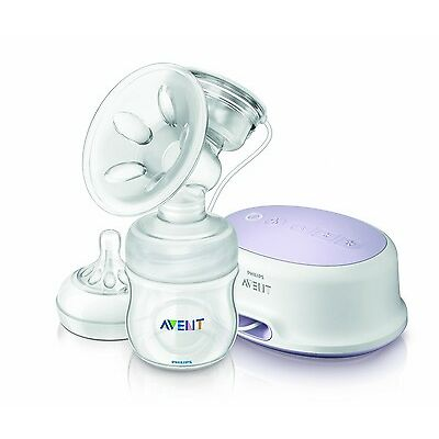 Phillps Avent BPA Free Comfort Single Electric Breast Pump - New! SCF332/11