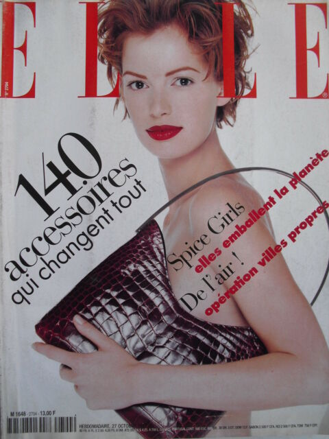October 1997 FRENCH ELLE Mag  THE SPICE GIRLS  CLOTILDE COURAU  LEONARD COHEN