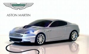 Aston-Martin-DBS-USB-Wired-Car-Mouse-Silver-IDEAL-CHRISTMAS-GIFT