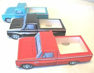 9 ~ ASSORTED Ford Cardboard Trucks Kids Food Box Tray Table Center Party Favor