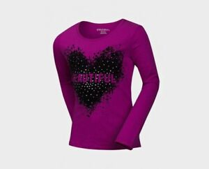 Girls-Raspberry-Heart-amp-Stud-Velvet-Beautiful-Top-T-shirt-6-16-Years