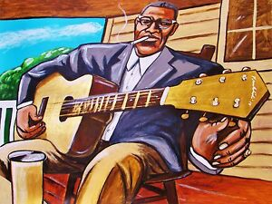 HOWLIN-WOLF-PAINTING-delta-blues-kay-guitar-smokestack-lightning-cd-chicago