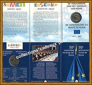 BELGIQUE 2 Euro Commémorative 2007 - COINCARD -  Traité de Rome