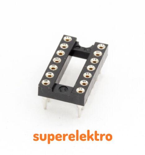 4x IC-Fassung DIP-14PRUNDE PINSChip-Sockel Socket DIP14 DIL14 DIL 14p