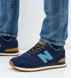 33a6d4b5e289 Image is loading New-New-Balance-574-Classic-Mens-sneaker-navy-