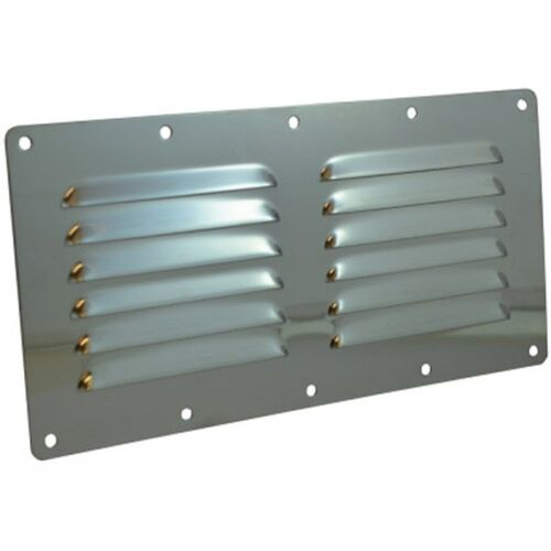 Louvered Vent 230 x 115 Mirror Finsh Marine Stainless Steel Handy Straps