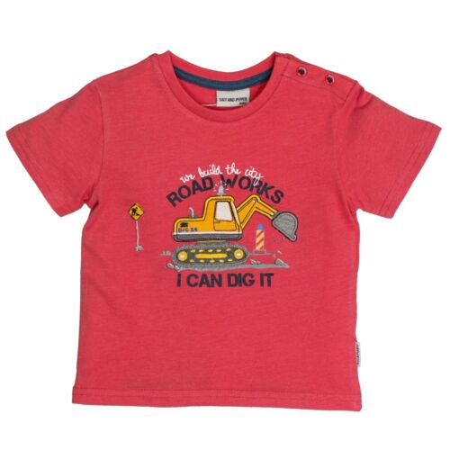 83212144 Salt /& Pepper jóvenes Baby tshirt t-shirt nuevo talla 68-86 excavadoras