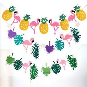 Hawaiana-Tropical-flamingo-ANANAS-Festa-Estiva-Decorazione-Striscione-Ghirlanda-Bunting